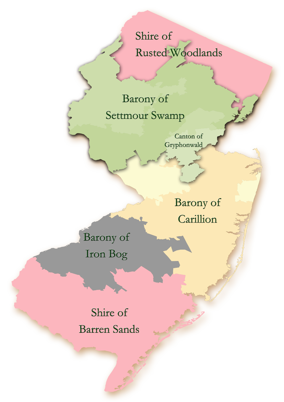 NJ Map with SCA Divisions
